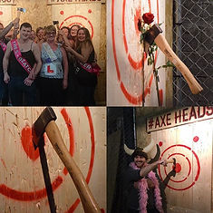 Valentines day Axe throwing special with pictures of roses