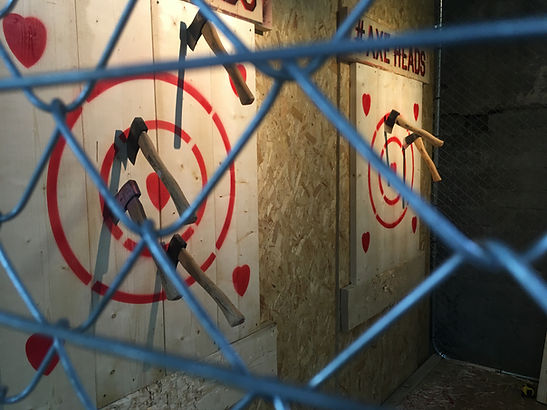 Axe Throwing at Axe Heads in Cornwall, United Kingdom.