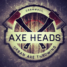 Axe Heads, Axe throwing, Cornwall logo