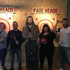Social media picture following group Axe throwing