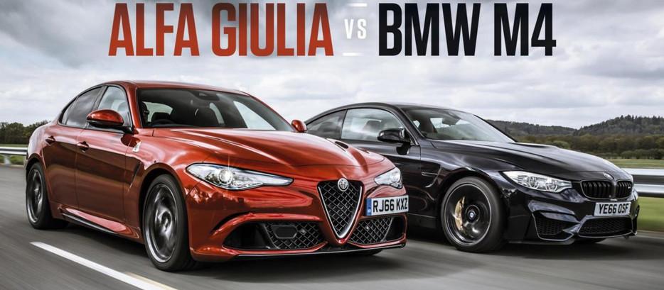 TOP GEAR A CONFRONTE L'ALFA ROMEO GIULIA QUADRIFOGLIO ET LA BMW M4!