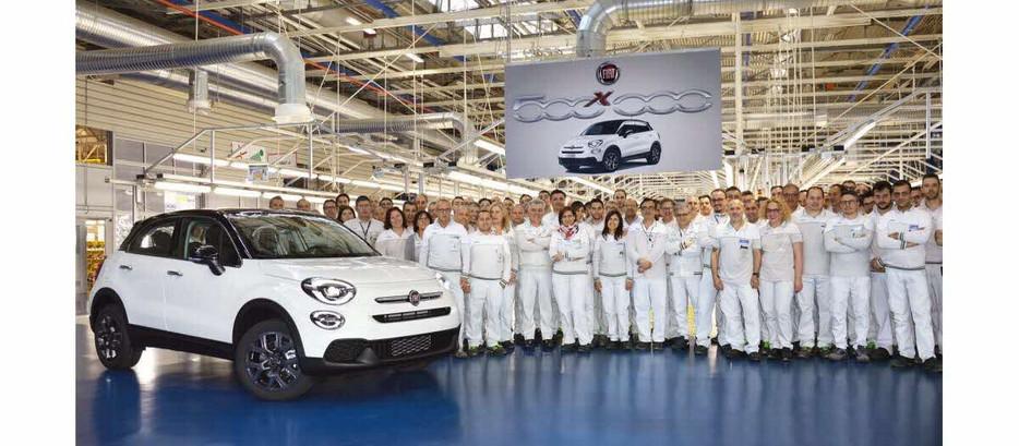 FIAT 500 X: LE SEUIL DU DEMI MILLION D'EXEMPLAIRES PRODUITS FRANCHI!