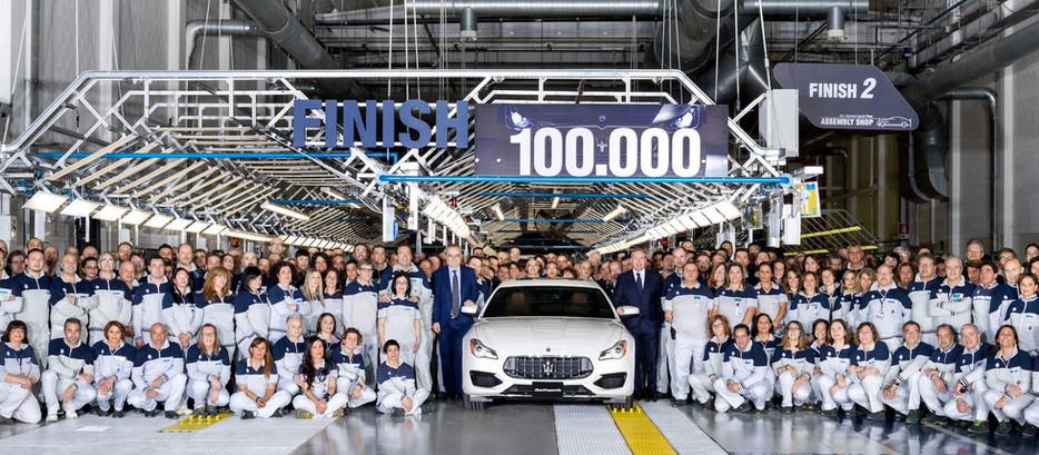 MASERATI CÉLÈBRE SA 100 000 EME VOITURE PRODUITE!