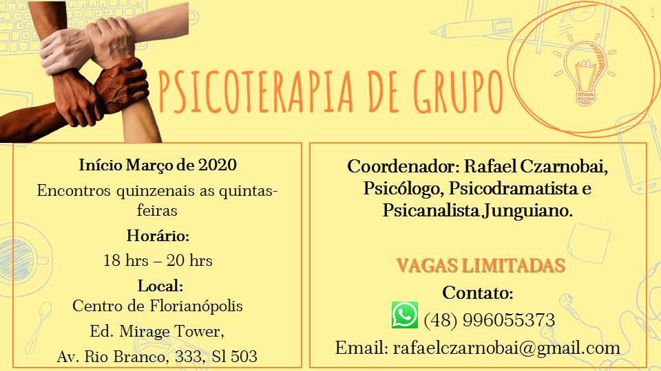 Psicoterapia de grupo início em Março 2020