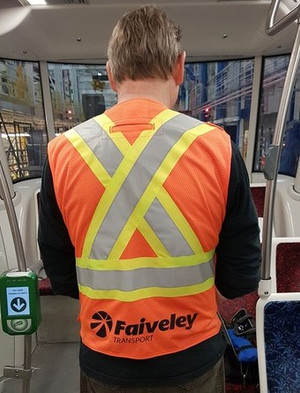 LOGO PRINT ON HI-VIS SAFETY VEST