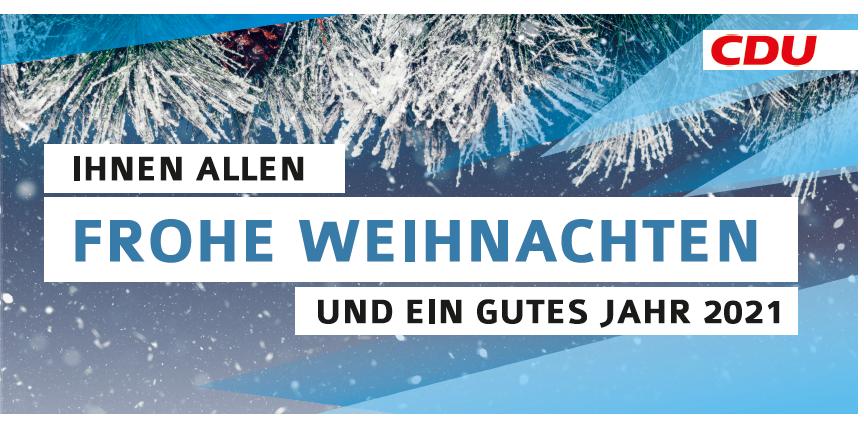 Weihnachtsgruß CDU