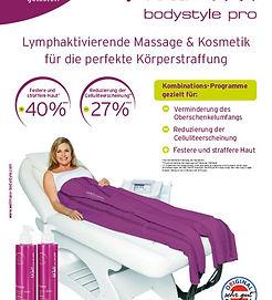 Fitnessstudio Niederprüm fitZone Wellmaxx Bodystyler lymphaktivierende Druckwellenmassage