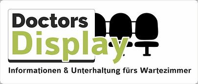 Logo Doctors Display mit Claim und BG.pn
