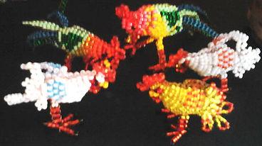 Игрушки из бисера Курочки и петушки Фото