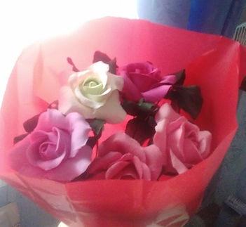 Цветы Розы из полимерной купить в СПб