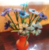 ЦветыВасильки из бисера фото