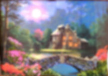 Картина Закат  Вышивка биссером Фото