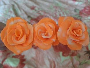 Заколка розы из полимерной глины