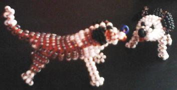 Игрушки из бисера Пёсики Собачки фото