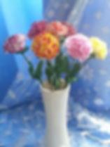 Цвты Гвоздики из полимерной глины купить в СПб