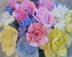 Букет цветы из полимерной глины купить в спб