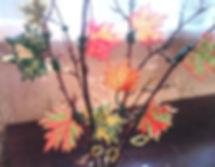 Осеннее дерево из бисера фото