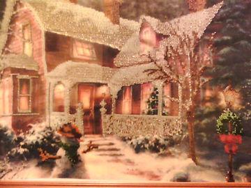 Картина Зимнийвечер Вышивка биссером Фото