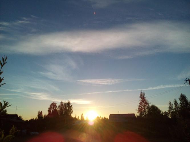 Фото небо Солнце облака скачать