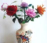 Цветы Букетиз Роз из биссера Фото