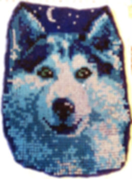 Волк Мозаика из бисера на твёрдой основе