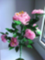 Розовое дерево из бисера фото