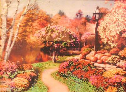 Картина Бабье лето Вышивка биссером Фото