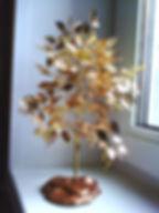 Золотое дерево из бисера фото