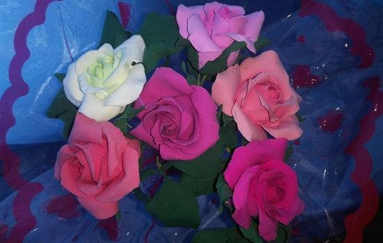 Цветы Розы из полимерной глины купить в СПб