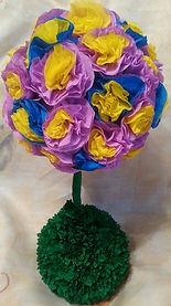 Топиарийбумажный,сувенирцветочноедерево,бумажноецветочноедерево,бумажныйдекорручнаяработа,купитьвСПб
