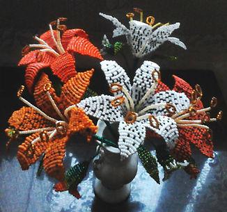 ЦветыЛилии из бисера фото