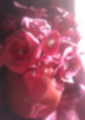 Букет красных цветов из полимерной глины с бисером в гранатовом горшочке купить в СПб