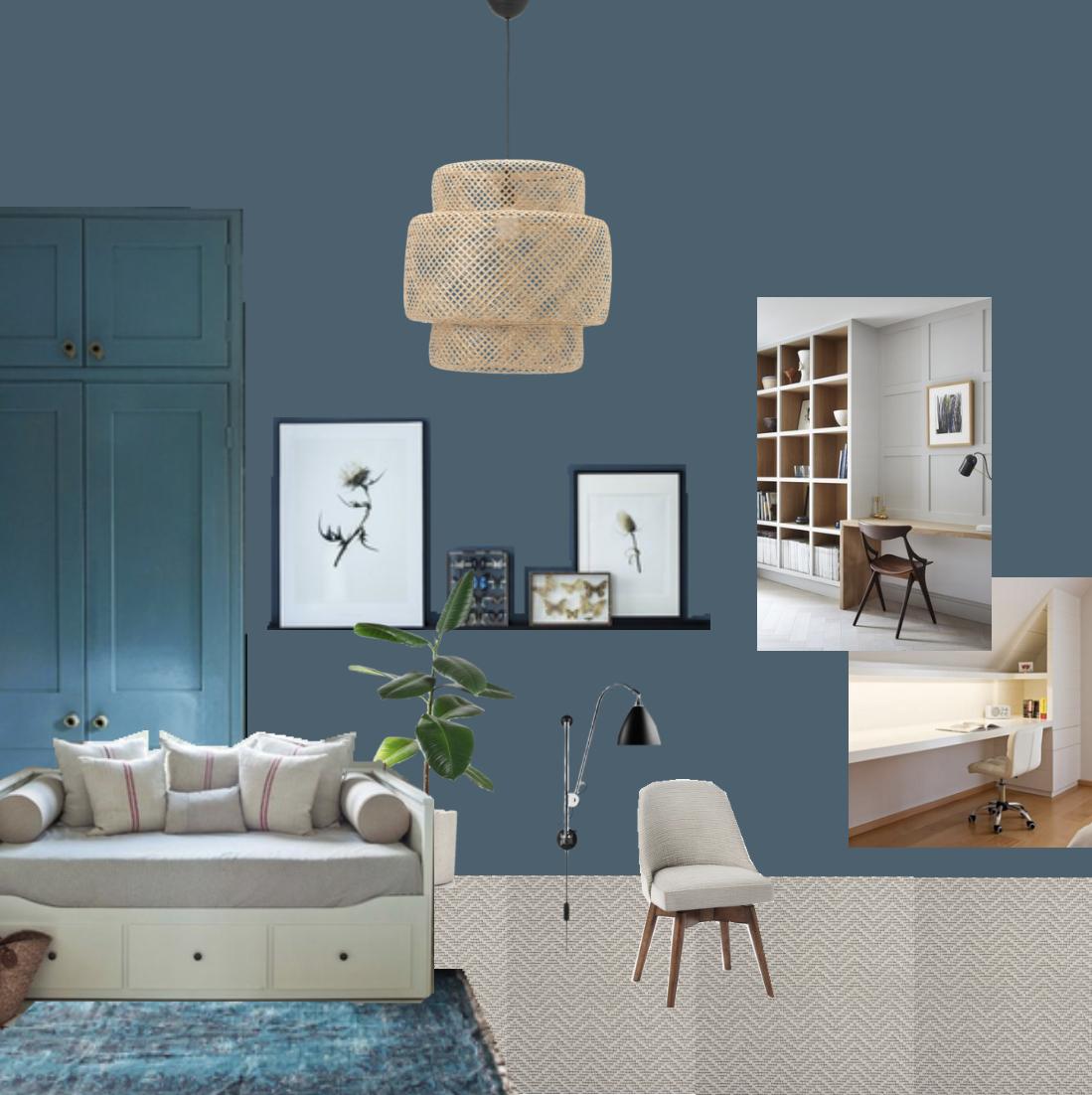 Moodboard guest room | Study