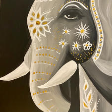 Painted Elephant (medium)