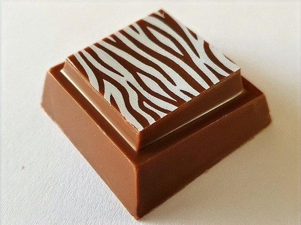 Honeycomb enveloped in milk chocolate