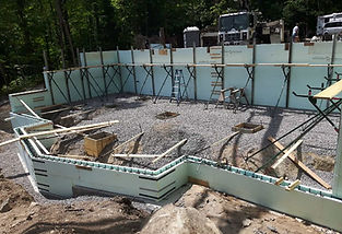 ICF Foundation, new home and cottage