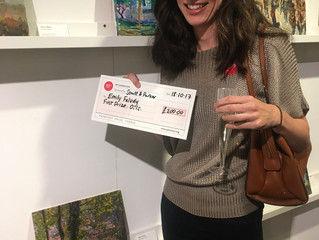 Emily Faludy wins Prize for the 'Oils' Category at 'Paint Out Norwich'...