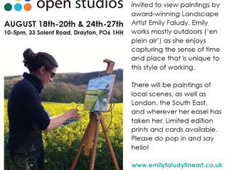 This year, I am taking part in the Hampshire Open Studio's event for the first time!