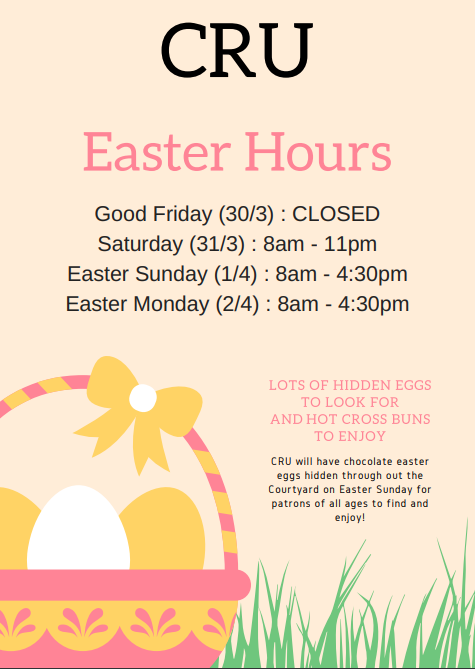 Easter Weekend Hours