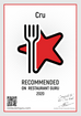 CRU Recommended on Restaurant Guru!
