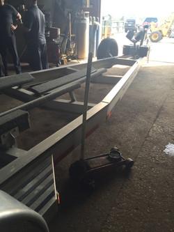 Bearing repair on boat trailer