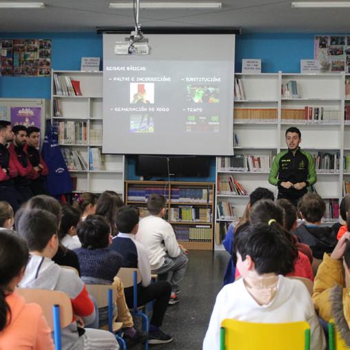 """""""O Noia Portus Apostoli na escola"""" continúa o proxecto en Portosín"""
