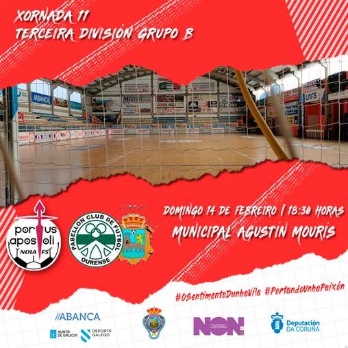 Noia Portus Apostoli B-Pabellón EDO Sala Ourense: ao ecuador con tres puntos importantes en xogo