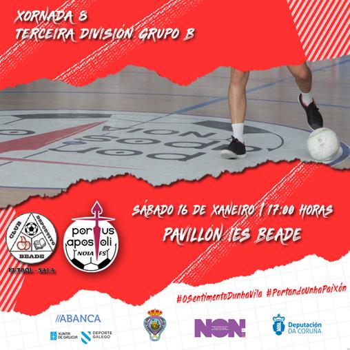 Beade MVMB Copefri-Noia Portus Apostoli B: a Vigo na primeira saída do 2021