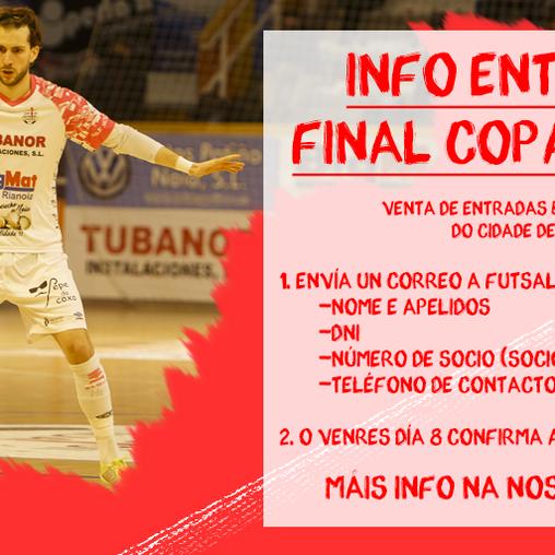 Información sobre as entradas para a final da XXIX Copa Galicia