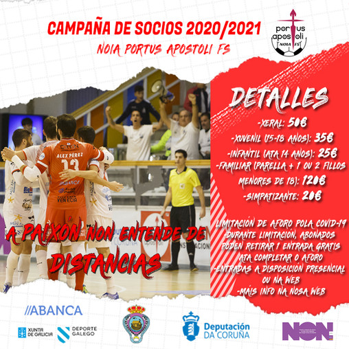O Noia Portus Apostoli FS lanza a súa campaña de abonados para a temporada 2020/2021