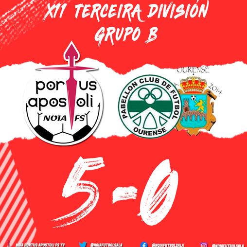 FILIAL | O Portus Apostoli B demostra saber estar e golea ao Pabellón EDO Sala Ourense (5-0)