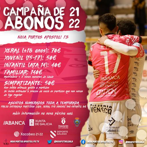 O Noia Portus Apostoli FS presenta a súa campaña de abonados para a temporada 2021/2022