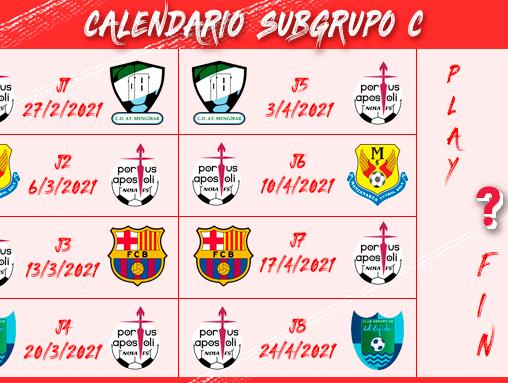 El cuadro blanco ya conoce su calendario en el Subgrupo C