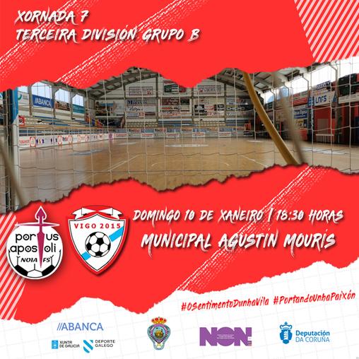 Noia Portus Apostoli B-Vigo 2015 FS: o filial dá comezo ao 2021 coa ambición de volver a gañar